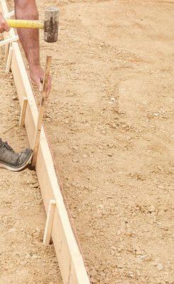 coffrage en bois pour dalle béton