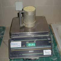 mesure de la masse volumique du sable