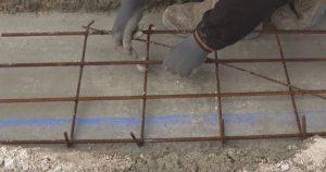 Ferraillage fondation mur de clôture