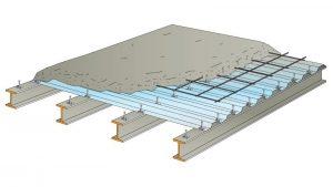 plancher mixte acier béton