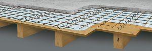 plancher mixte bois béton
