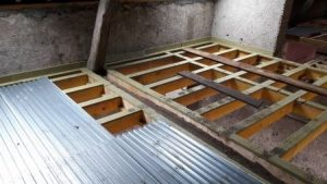 Rénovation d'un plancher à l'aide de bac acier colaborant.