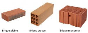les différents types de briques