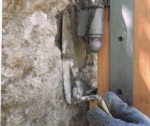 sceller un gond au ciment prompt