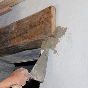 sceller un linteau au ciment prompt